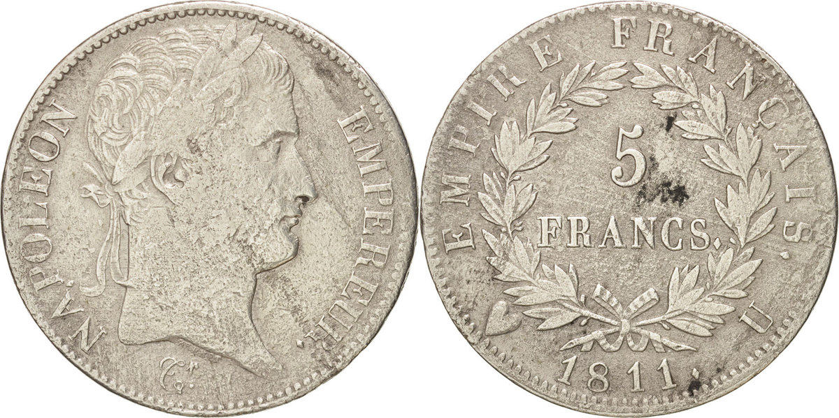 5 francs 1811 u france coin napol on i torino silver for Coin torino