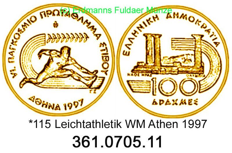100 drachmes 1997 greece griechenland *115 km169