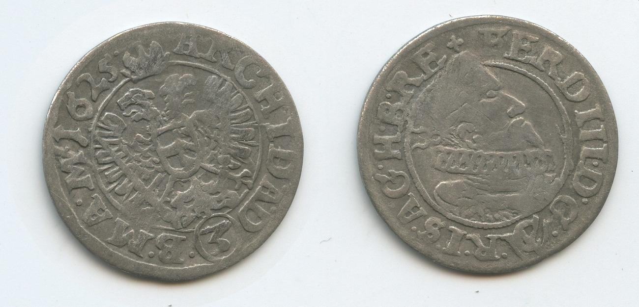 groschen (3 kreuzer) 1625 cw rdr sterreich mhren brünn m#3083