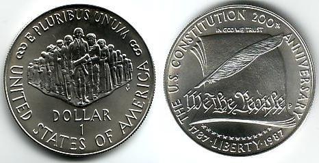 Канада 1 доллар (1987-1989) (елизавета ii)